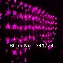 Новый Luz De LED Занавес Праздник Освещение Строки 2.5 м * 1 м 72 светодиоды Звезда Люстра Гирлянда Для Дома крытый Украшение Свадьбы