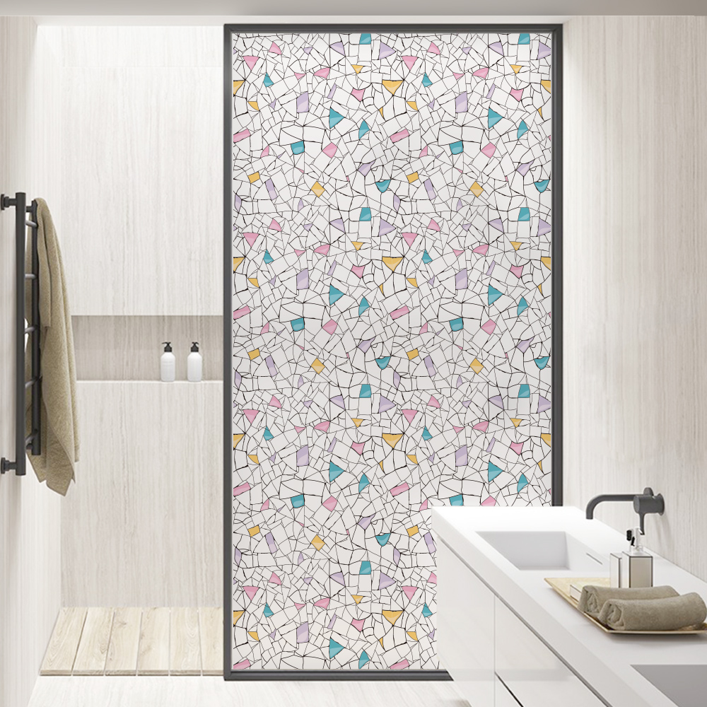 Online get cheap stained glass doors aliexpress alibaba group 456090200cm no glue vinyl static cling frosted privacy stained glass door window film anti uv bathroom decor blt1358colorful eventelaan Image collections