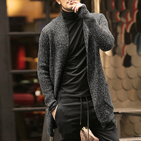 Mens Sweater Long Sleeve Cardigan Males Pull Style Cardigan Clothings Fashion Thick Warm Mohair Sweaters