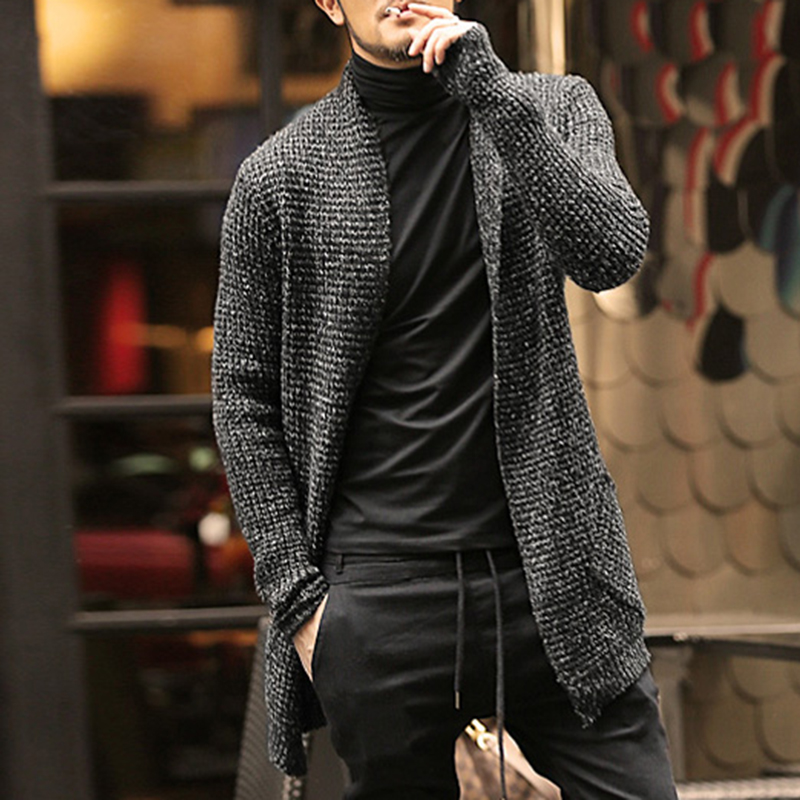 Mens sweater long sleeve cardigan males pull style for Long sweaters and shirts