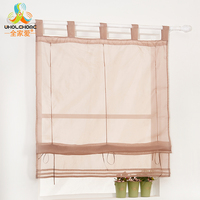 Window Panel Drape Roman Tulle Curtain Solid Sheer For The Kitchen Living Room Tab Top Voile