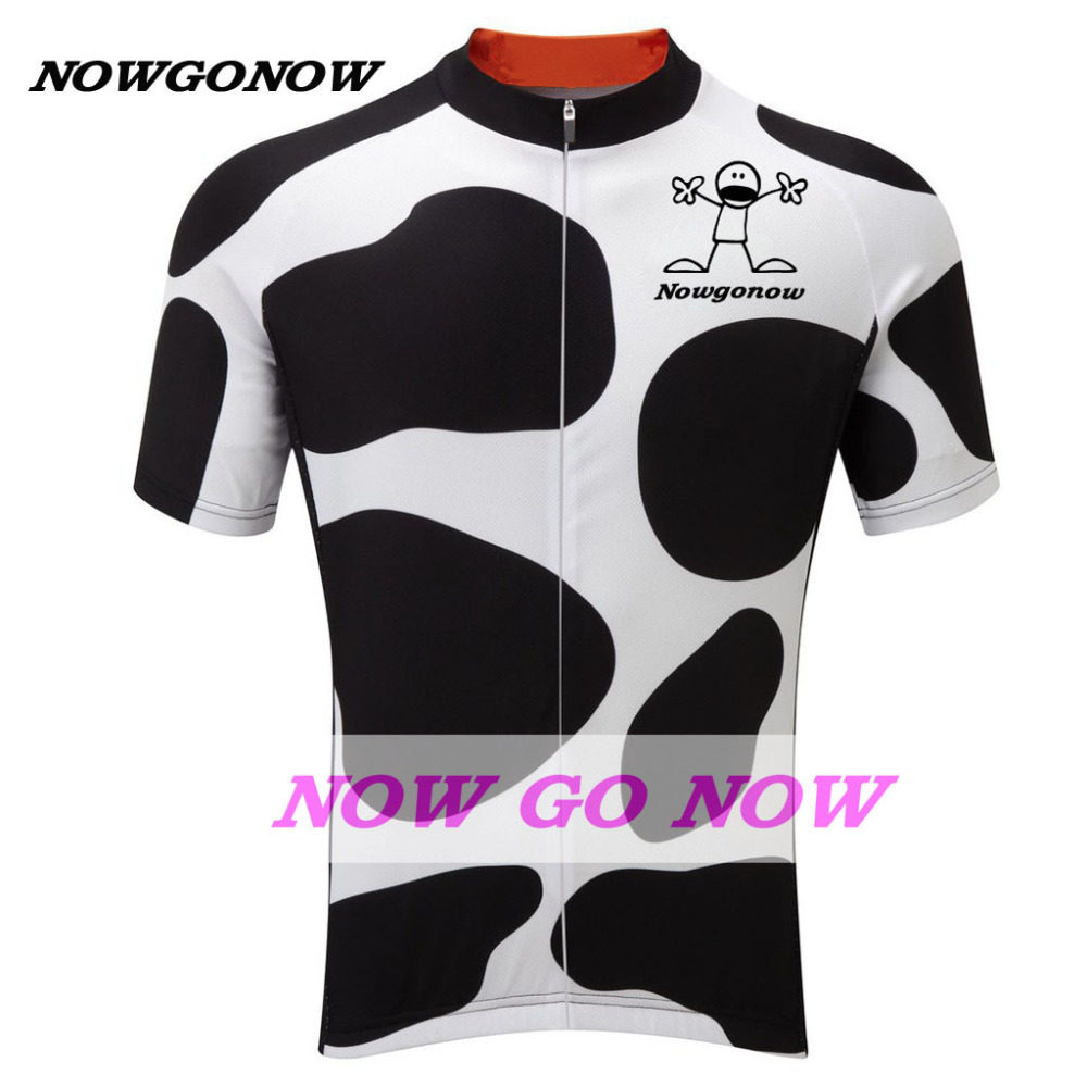 9635a5642 Man NOWgoNOW bike wear 2017 white black cycling jersey clothing pro team  racing riding funny summer short