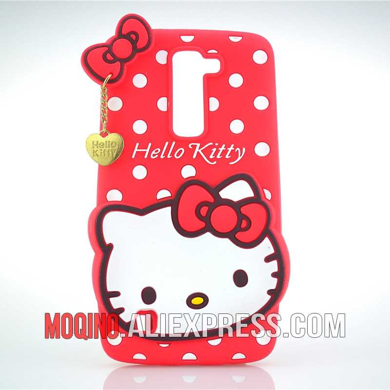 Para LG K7 caso 3D encantador lindo Hello Kitty Kt gato de silicona caso teléfono caso