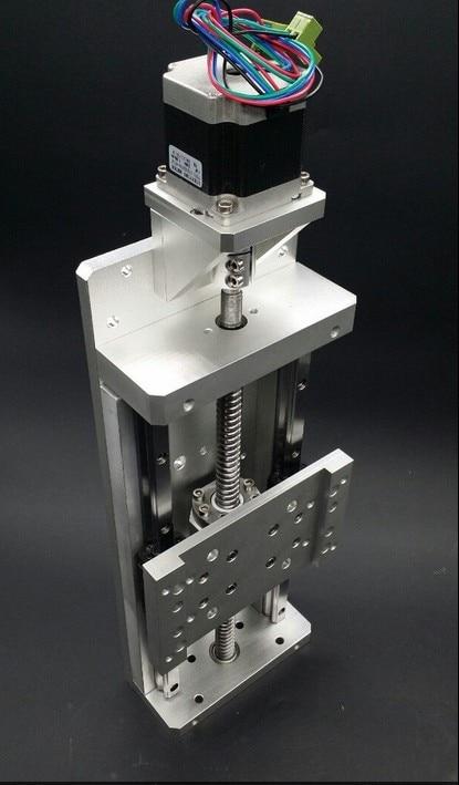 Électrique curseur cnc 1605 linéaire curseur moteur pas à pas nema 23X76mm vis à Billes guider, voyage 100mm pour charge lourde 100 kg z axe