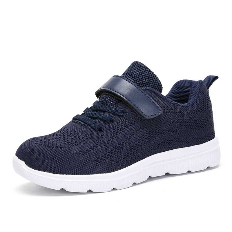 74af9eb01b507 ... 2018 Hot Style Breathable Mesh Kid Sneaker Sport Running Shoes for Boys  Girls Lacing Lightweight Black ...