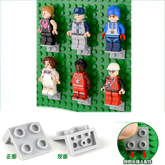 1*2 2*2dots Building Blocks Brackets DIY Enlighten Block Brick Part Compatible with Legoings Baseplates Figures Toys Accessory