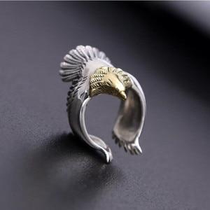 Image 2 - Eagle แหวน 100% 925 เครื่องประดับเงินแท้สำหรับชายหรือหญิงแฟชั่นบุคลิกภาพบุคลิกภาพของขวัญ GR15