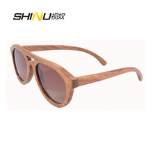 Real Nature Wood Sunglasses Man Wooden Glasses Women Polarized Sun Glasses Pilot Eyewear Gafas De Sol 6140