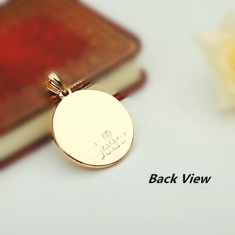 Image 4 - Turkey Islamic Allah Pendant New Fashion Pendant Rose 585 Gold  Color Muslim Jewelry Accessories Women and Men Necklace Pendantsf  pendantislam allahmuslim jewelry