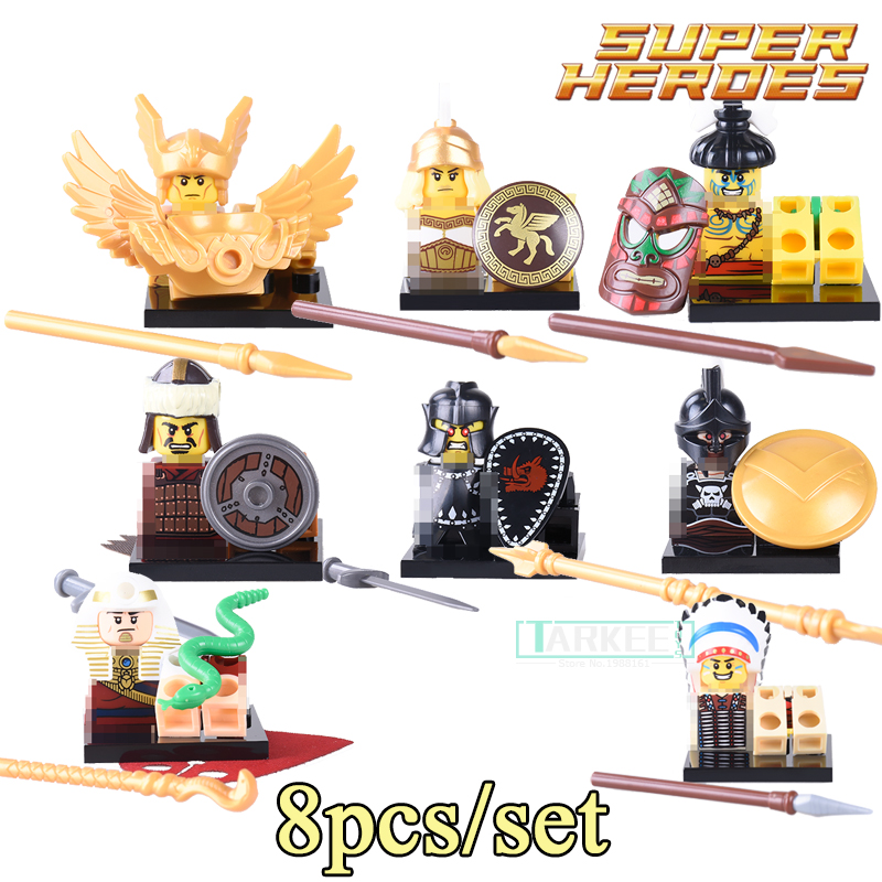 Building Blocks X0163 Chief Aborigines Hun Warrior Saint Seiya Super Heroes Star Wars Bricks Kids DIY Toys Hobbies QUEST Figures