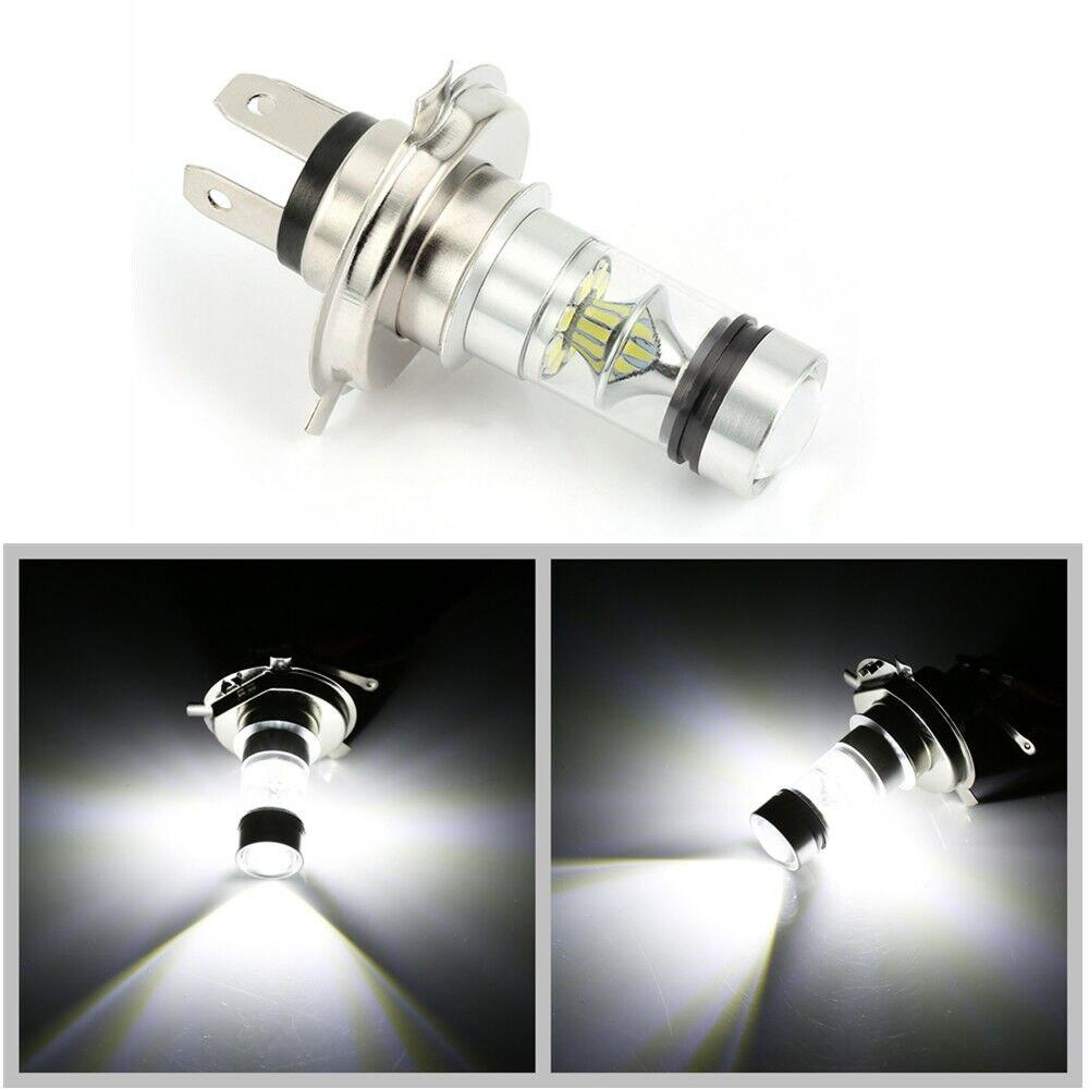 Car Head Light Lamp Bulb H4 LED 6000K 100W 20LED Super Bright Fog Headlight White Light 12V Car Styling Car Light Source 12V