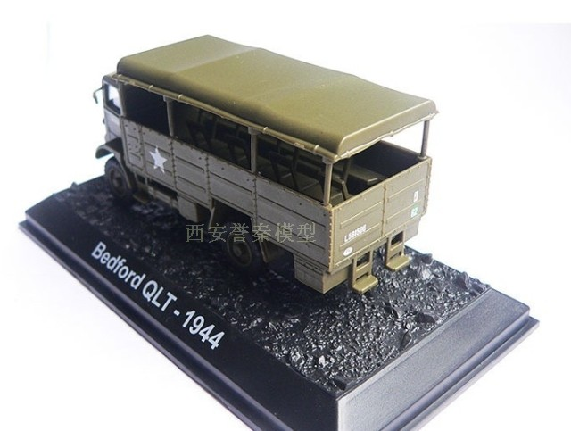AMER 1/72 Military Model Toys Bedford QLT 1944 Diecast Metal Truck Model Toy For Collection/Gift