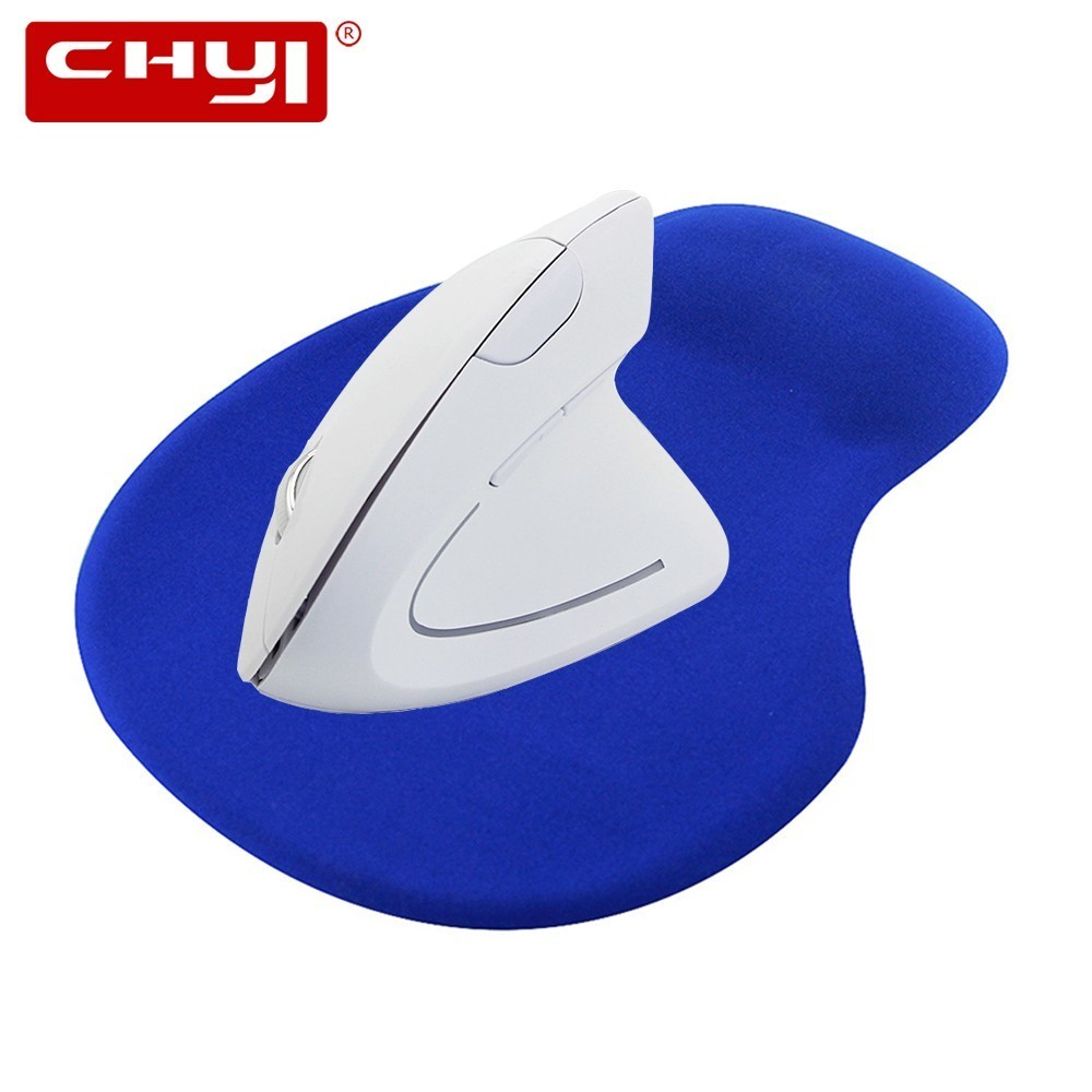 все цены на CHYI Wireless Vertical Mouse Ergonomic Optical 2.4G 800/1200/1600DPI Colorful Backlight with Wrist Rest Mice Pad Kit For Laptop онлайн