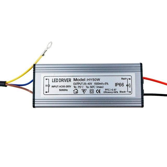 LED נהג 10W 20W 30W 50W 300mA/600MA/900MA/1500MA כוח אספקת הארה LED נהג אור שנאי IP66 עמיד למים מתאם