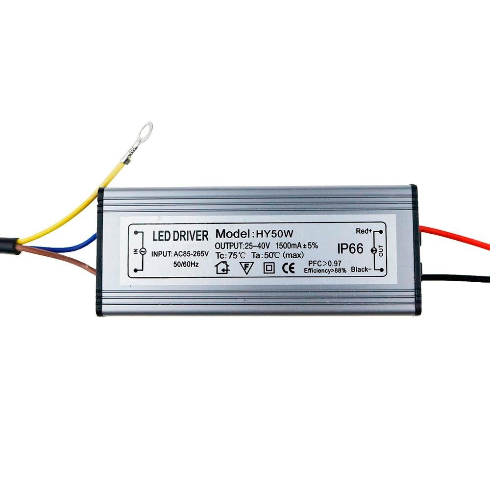 LED Driver 10W 20W 30W 50W 300mA/600MA/900MA/1500MA Power Supply Floodlight LED Driver light Transformer IP66 Waterproof Adapter