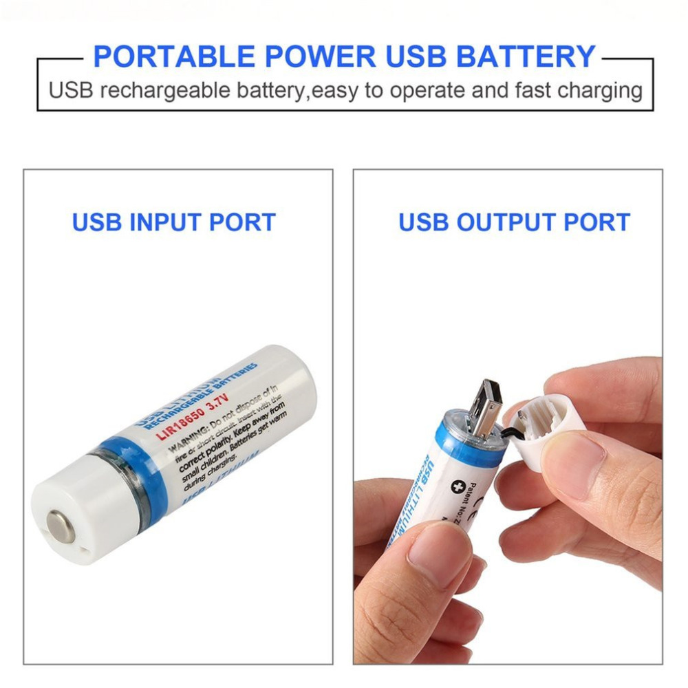 37v 1400mah 18650 Usb Lithium Rechargeable Battery For Torch The Circuit Above Is A Simple To Charge Phone Flashlights Short Over Protect With Led Indicator In Batteries