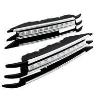 Free Shipping 2 Pcs Set Waterproof LED Daytime Running Light DRL For VW Volkswagen Toureg With