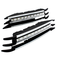 2 Pcs/Set SUNKIA Waterproof LED Daytime Running Light DRL For VW Volkswagen Touareg 2012 2013 2014 With Turning Signal