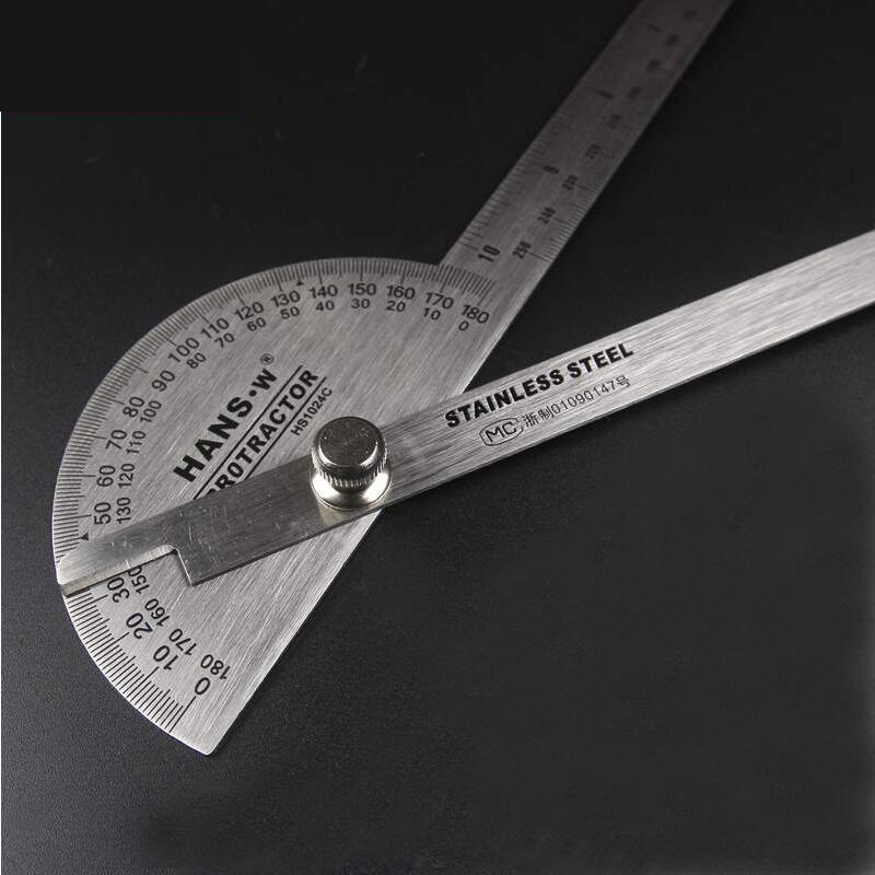 25cm Goniometer Ruler Angle Measuring Tool Protractor Angle Finder Transferidor De Grau HS1024C
