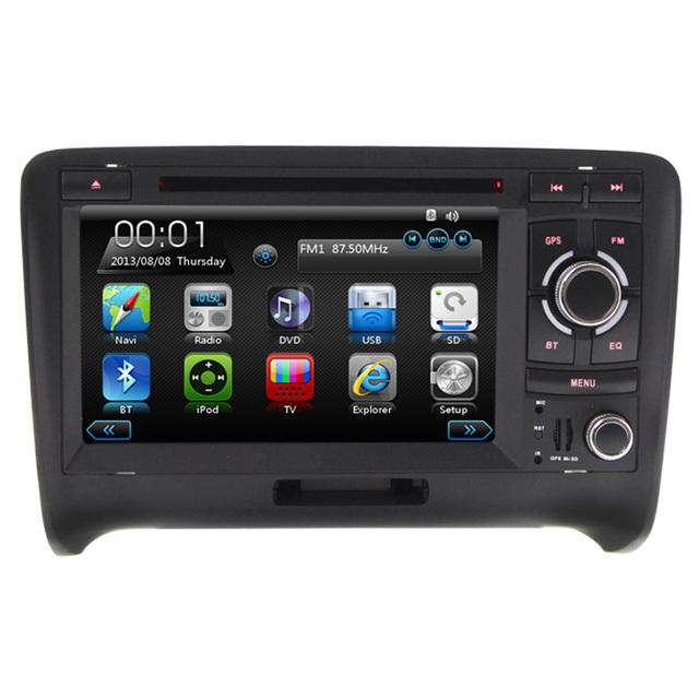 7 ''Capacitive touch screen Car DVD Player Para AUD ITT GPS navegação Bluetooth RDS FM AM pode ônibus Mp3 controle da roda stering swc
