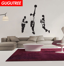 Decorate basketball sport art wall sticker decoration Decals mural painting Removable Decor Wallpaper LF-1811
