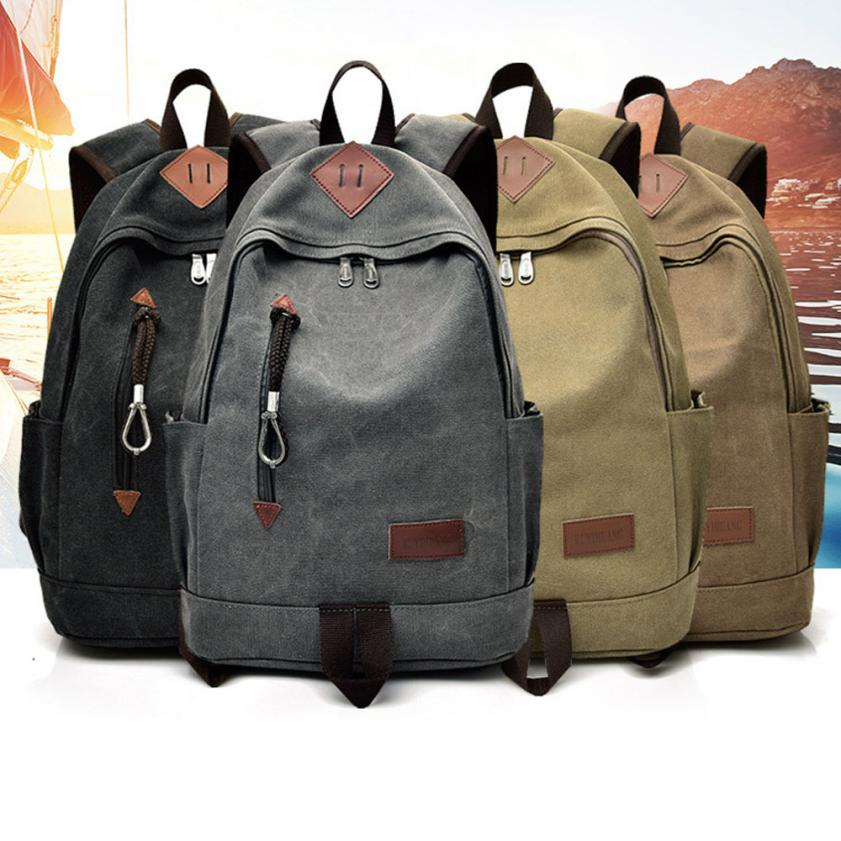 MOLAVE Backpacks new high quality Canvas Casual Men Backpack Travel Student School Laptop Bag backpack women mar22