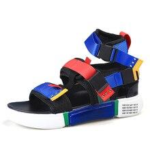 2019 New Fashion Summer Men Casual Shoes Canvas Sandals Platform Gladiator 7#34D50