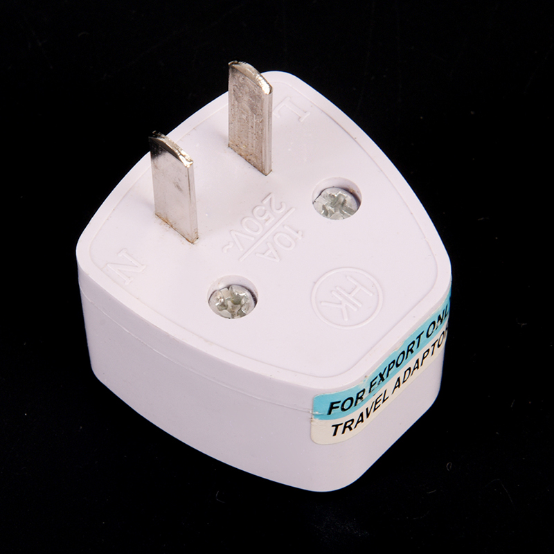2 Pin Universal Travel EU UK AU To USA AC Power Adapter Plug Travel Charger Adapter Plug Outlet Converter Adapter 10A 250V White
