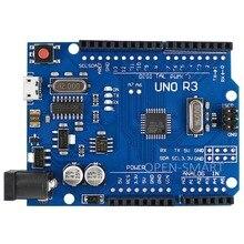 UNO R3 Board Mirco USB Socket ATmega328P Development Board Compatible with Arduino UNO R3