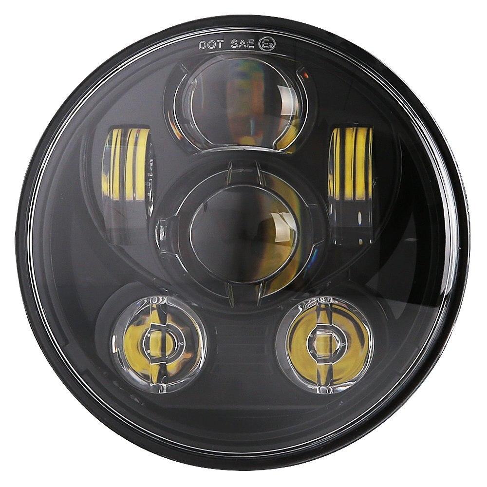 5.75 5 3/4 LED Motorcycle Headlight Daymaker Black For Harley Sportster 1200 XL1200L Custom XL1200C 883 XL883 883L XL883R 48