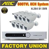 Full D1 8ch Video Surveillance Cctv System 8channel D1 DVR 600TVL IR Waterproof Camera CCTV Video