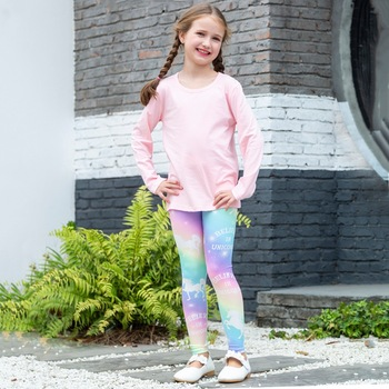 Rainbow Unicorn Children Leggings