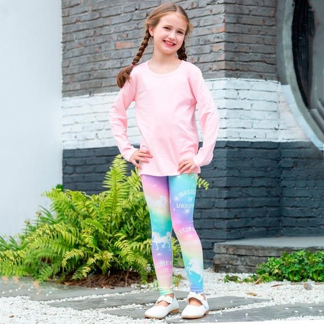 Rainbow Unicorn Children Leggings