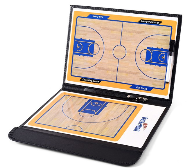 Wholesale Magnetic Basketball Coach Board PU Leather Basketball Tactical Board with mark pen