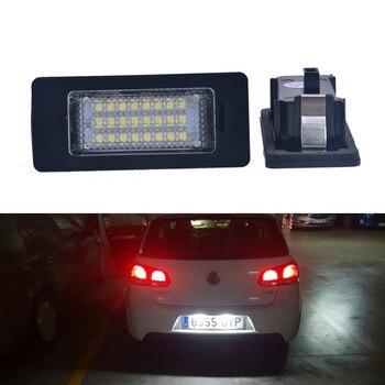 2 шт. 24SMD Автомобильные светодиодные номерные знаки для VW Golf 6/7 вариант Passat B6/B7 вариант Jetta MK6 Sharan Touran Touareg