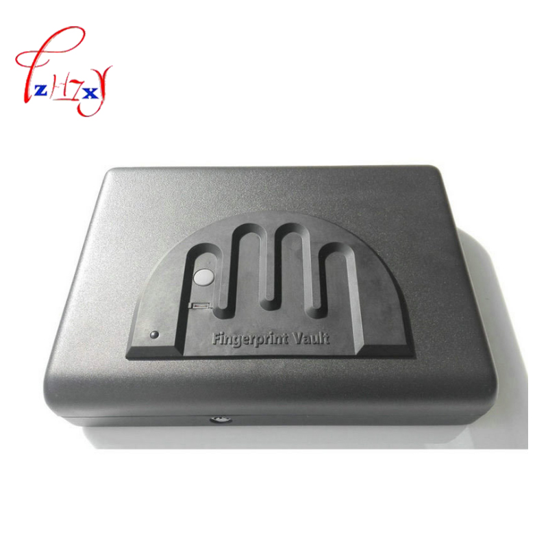 Fingerprint Safe Box Solid Steel Security Key Lock Safes box For Money Valuables Jewelry Cash gun car safe Pistol Security Box стоимость