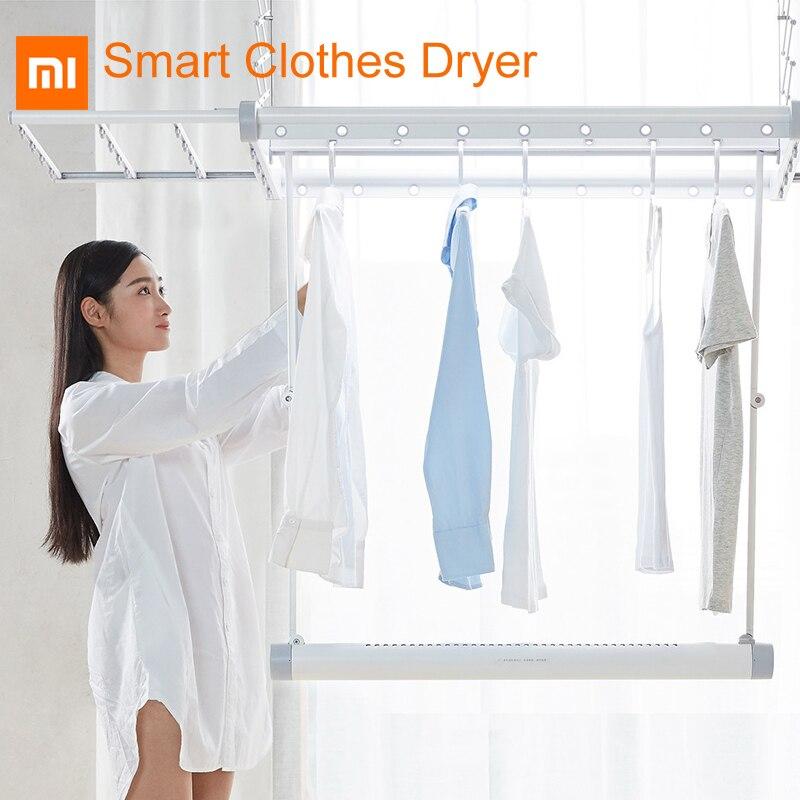 Original Xiaomi M1X Pro secador de ropa inteligente aleación de aluminio de alta calidad 304 Acero inoxidable Alambre de secado de aire/secado rápido