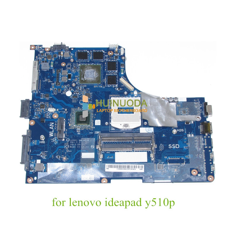 VIQY1 NM-A032 For Lenovo ideapad Y510P 15.6'' laptop motherboard GeForce GT755M 2GB graphics 1920x1080 FHD NO SSD for lenovo g50 70 i5 motherboard aclua aclub nm a273 rev1 0 840m 2gb video card with graphics card 100
