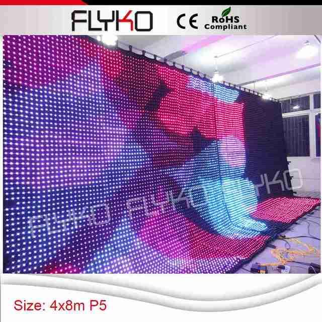 Enlazado dos piezas juntas 4x8 m led lámparas led cortina de vídeo