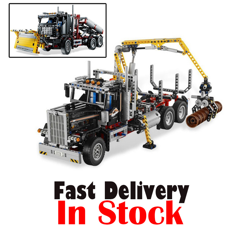 Lepin 20059 1338Pcs Technic Mechanical Series The Logging Truck Set Children Educational Building Blocks Bricks Toys Model 9397 lepin 21010 914pcs technic super racing car series the red truck car styling set educational building blocks bricks toys 75913