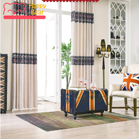 Happy Bear Window Curtains Home Decorative Window Curtain for Living Room Modern Blackout Curtain for Bedroom Customized Size