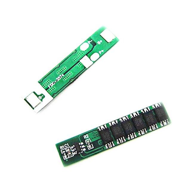 1 S 15A 3.7 V panneau de Protection de batterie 18650 Lithium Li-ion BMS PCM PCB 6MOS 1 cellule ion li sur Charge décharge Module de Protection