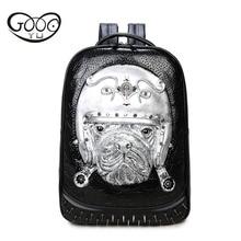 Goog. Ю модные сумки на плечо с заклепками 3d Животный узор Творческий Pet кожаные рюкзаки для детей рельефным тиснением женская сумка
