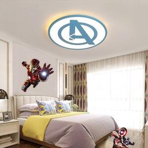 Image 3 - Modernas luzes de teto led para quarto estudo sala crianças rom casa deco preto/azul lâmpada do teto