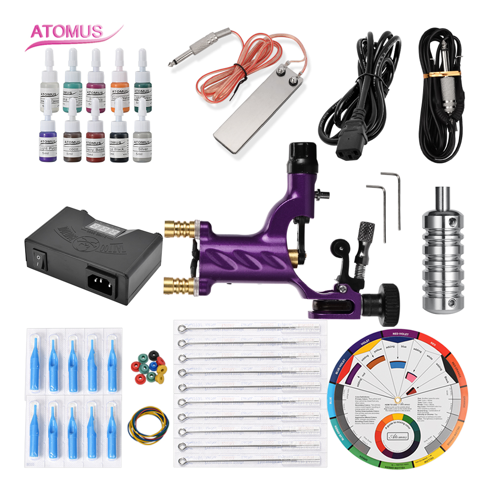 Machines Rotary Motor Complete Pro Set Cartridge Tattoo Kit Complete Machine Gun Rotary Cartridge Motor Starter Tattoo Pen KitsMachines Rotary Motor Complete Pro Set Cartridge Tattoo Kit Complete Machine Gun Rotary Cartridge Motor Starter Tattoo Pen Kits