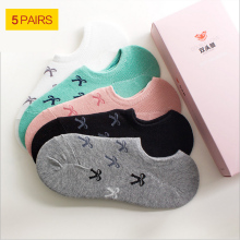 Invisible socks Cotton Socks Female solid color candy invisible socks summer thin sweet casual slipper socks 1lot=5 pair HOT!