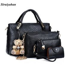 Siruiyahan Luxury Handbags Women Bags Designer Leather Shoulder Bag Female Bolsa Feminina