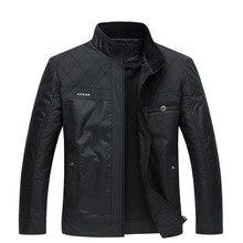Winter Men Black Jacket Big Size Men Clothing Autumn Thin /Thick Padded Jkackets Male Winter Business Gentleman Jacket Coat 4XL