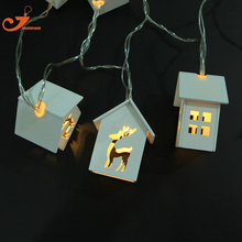 Wooden Home Decoration Deer Lights10LED Wood House Indoor Lighting Starry Light Christmas Light Battery Operated Fairy lights