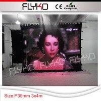 Яркий p35mm новинка, Лидер продаж светодиодные фонари отображения видео занавес 3 м x 4 м для сцены развлечения случаю с кейс